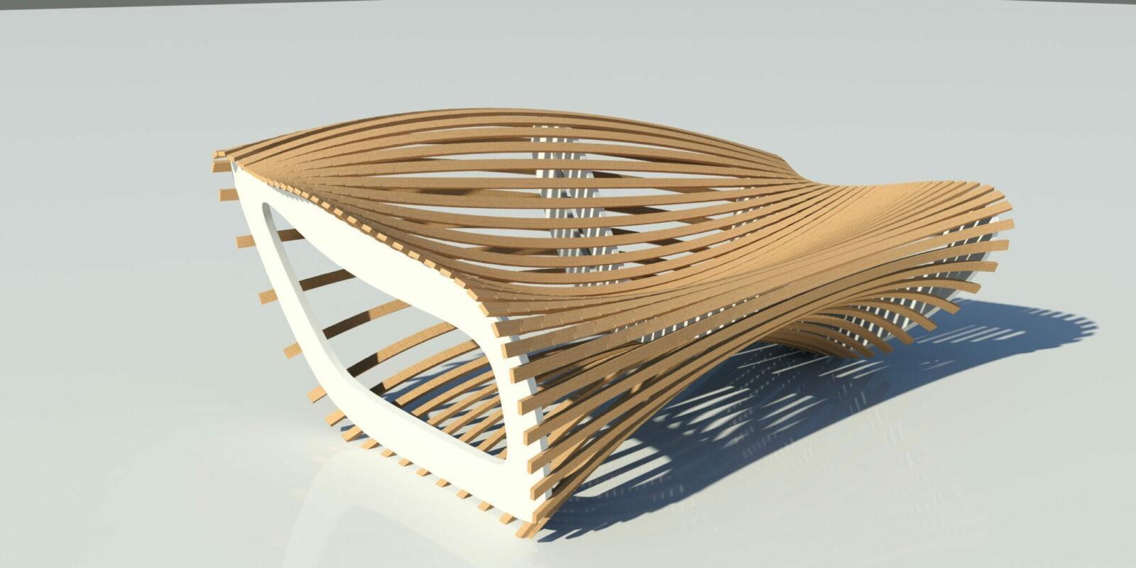 параметрическая скамейка из фанеры