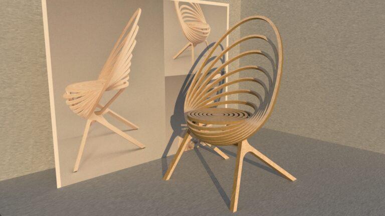 стул из фанеры параметрический