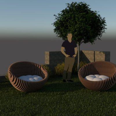 круглое кресло для террасы